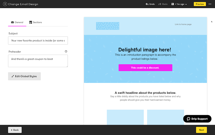 Visual Email Builder