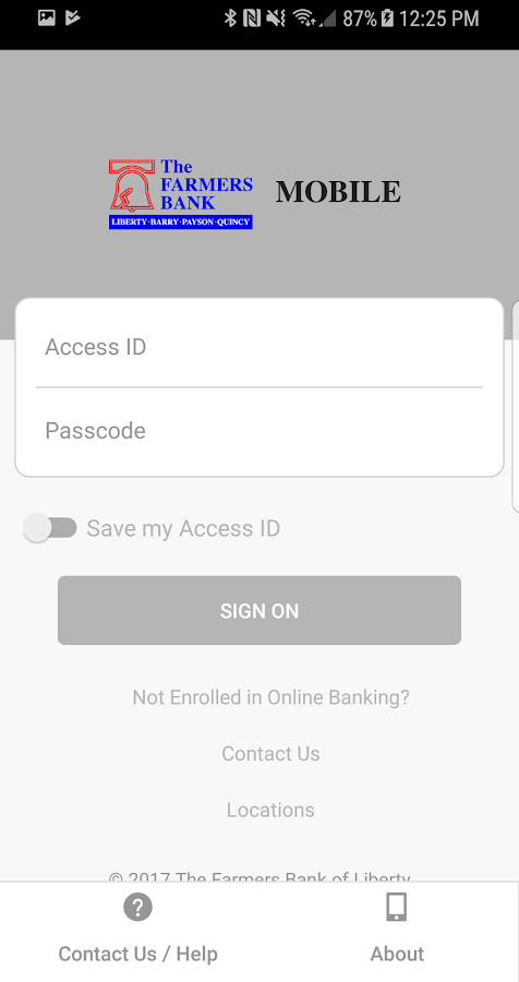 Farmers Bank of Liberty Mobile- screenshot