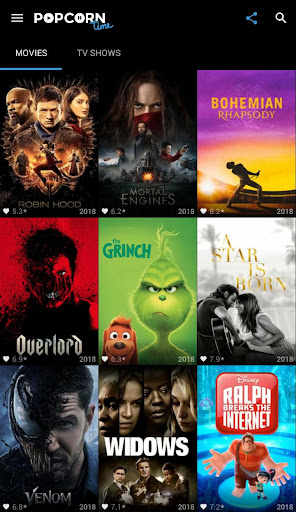 Popcorn Time - Free Movies & TV Shows 2.0 screenshots 1