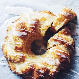 Yellow Split Pea Flour Bundt Cake with Lemon Icing Recipe
