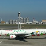 eva air - hello kitty airplane in Tokyo, Tokyo, Japan