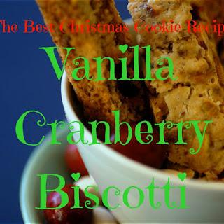 Vanilla Cranberry Biscotti