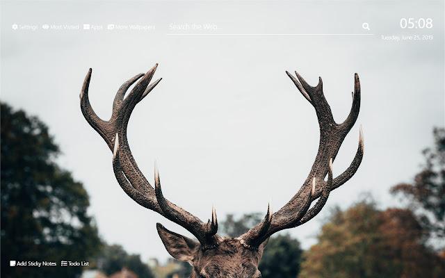 Deer Wallpaper HD New Tab Theme©