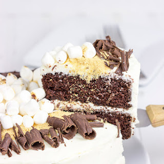 S'more Chocolate Marshmallow Cake.