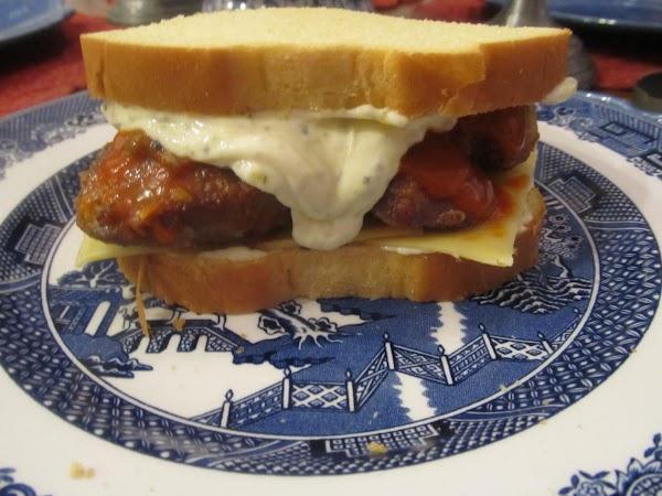 Hot Wing Chicken Liver Sammie- Jamie's Recipe