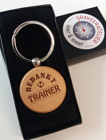 Sleutelhanger - Ronde sleutelhanger als bedankje voor de trainer