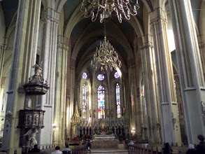 Photo: This is the gothic styled Catholic Zagreb Cathedral.