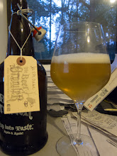 """Photo: I picked up a 32oz growler of Jailhouse Brewing's Partners In Crime. It is a 4.8% Berliner Weiss which is a style I haven't had a lot of. It had a nice, tight carbonation which brought out the tartness of the beer very nicely. This is an """"almost sour"""" in that there is some sour, but not too much. The flavors were along the lines of lemon, pear and apple. This is a very easy drinking beer, making it perfect for a warm Fall day."""