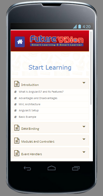 Learn Offline AngularJs Course- screenshot
