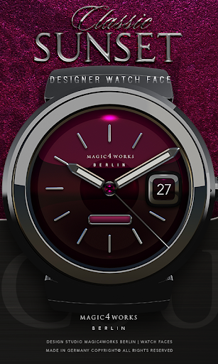 Classic Sunset Watch Face