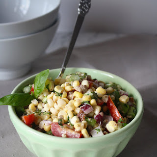 Sweet Corn Salad with Asparagus & Tomatoes