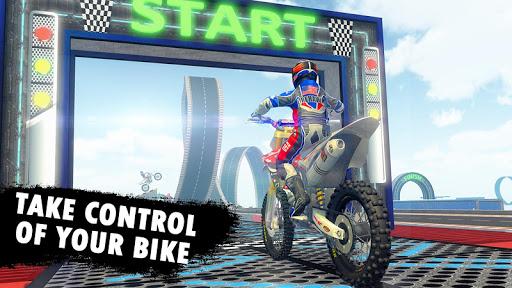 Impossible Bike Stunt - Mega Ramp Bike Racing Game apktreat screenshots 1