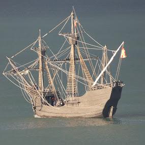 Ship ahoy by Judy Boyle - Transportation Boats (  )