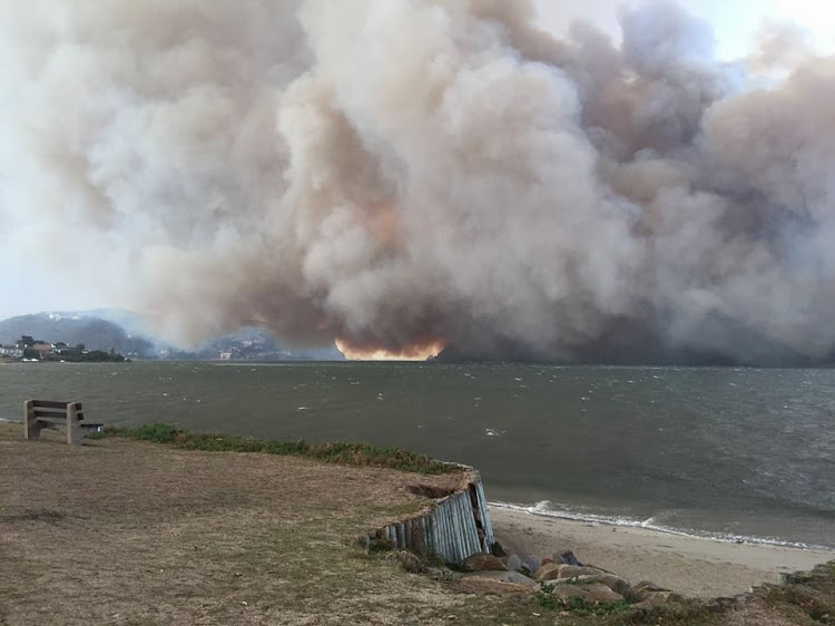 A view of the Knysna fire. Picture: KNYSNA FIRES 7TH JUNE ON FACEBOOK