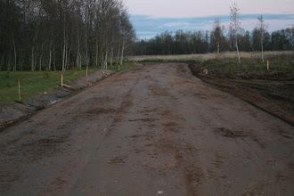 Photo: Po grunto stabilizacijos cheminiu grunto stabilizacijos priedu UPD ir 2% cemento.