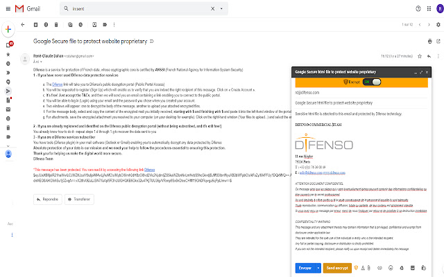 Difenso for Gmail