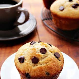 Bakery Style Jumbo Chocolate Chip Muffins.