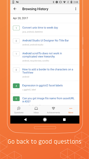 Screenshot 3 for Stack Overflow's Android app'