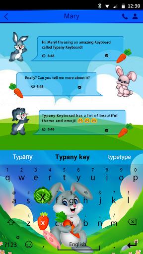 mod Cute Bunny Theme  Keyboard 4.5 screenshots 2