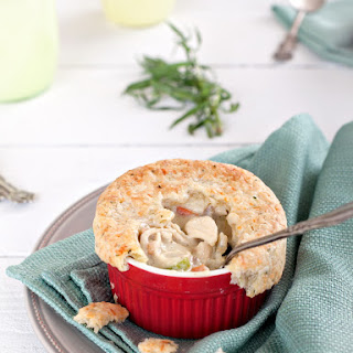 Chicken Pot Pie w/ Parmesan Herb Pastry Crust