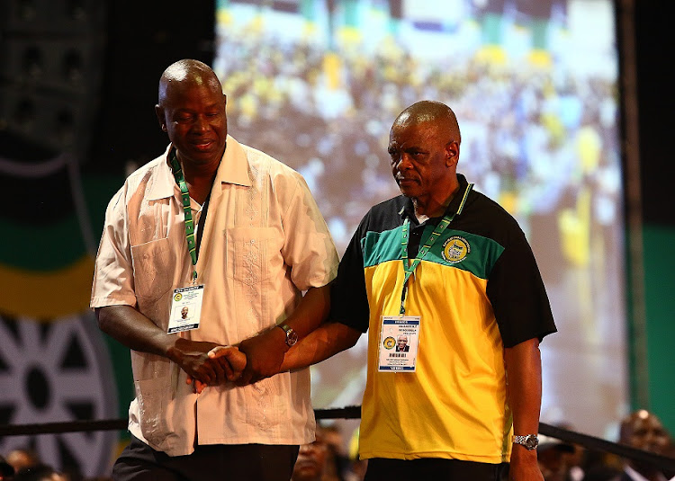 Ace Magashule is led to the stage after announced as the new ANC Secretary General during the 54th ANC National Elective Conference held at Nasrec on 18 December 2018.