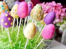 Colorful  Easter Egg Cake