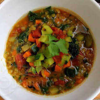 Red Lentil Vegetable Soup.