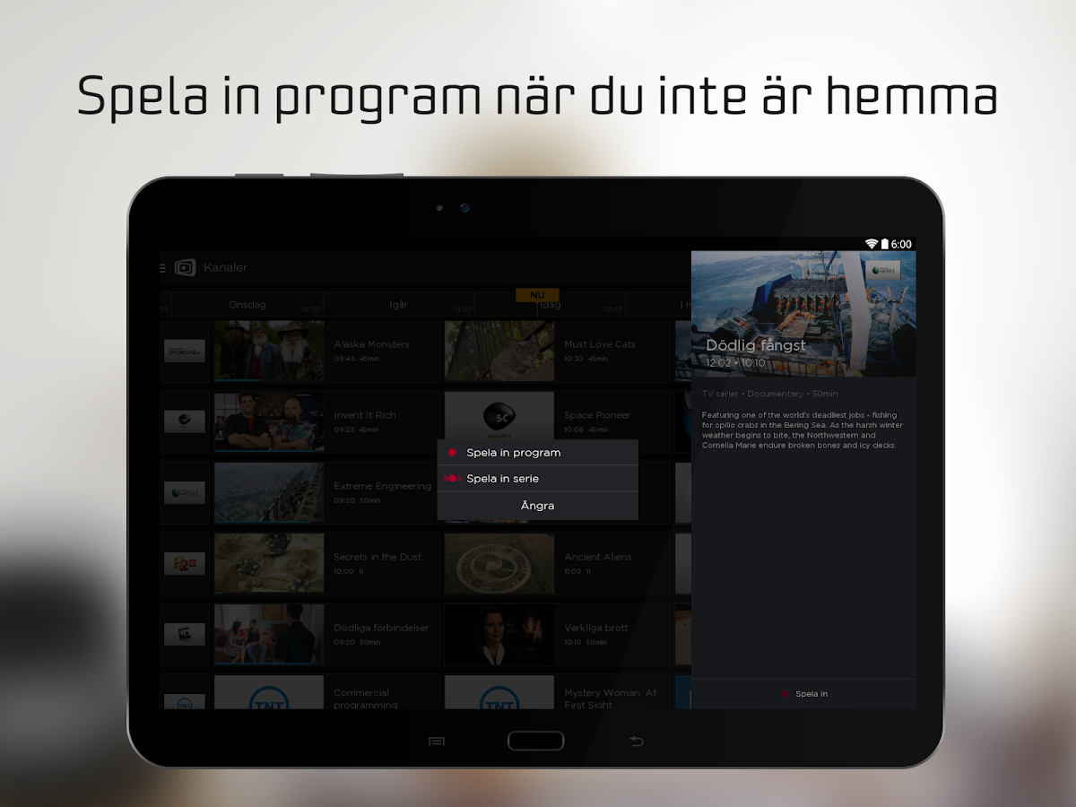 Canal Digital GO– skärmdump