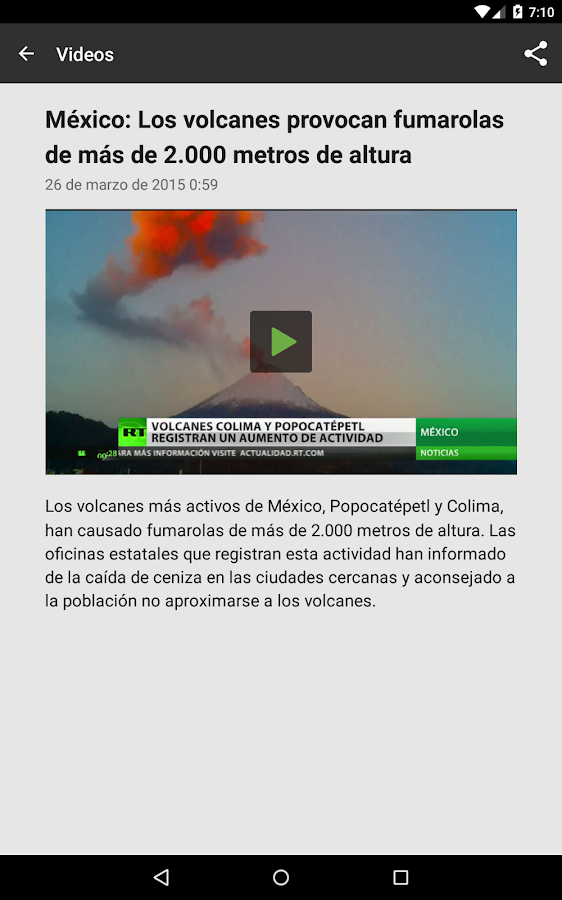 RT noticias (Russia Today): captura de pantalla