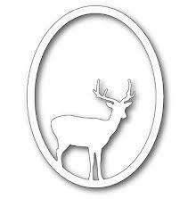 Memory Box Die - Single Deer Oval