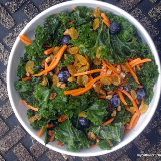Kale and Blueberry Salad.