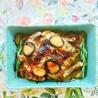 Plum, Rosemary & Pomegranate Balsamic Roast Chicken
