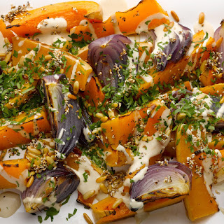 Roast Butternut Squash and Red Onion with Tahini and Za'Atar Recipe