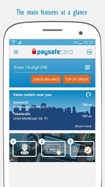 paysafecard – pay cash online Android App Screenshot