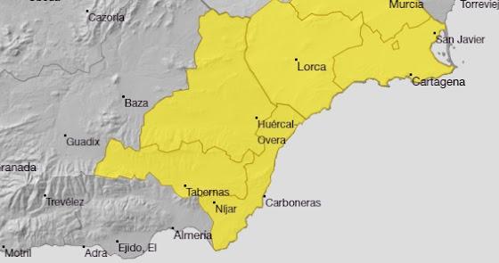 Media provincia en alerta amarilla por fuertes lluvias