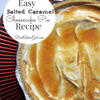 Easy Salted Caramel Cheesecake Pie