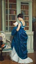 """Photo: Auguste Toulmouche, """"Nella biblioteca"""" (1872)"""