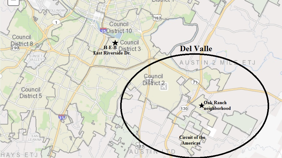 Del Valle Texas Map