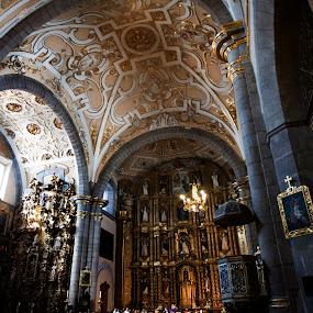 Church in Puebla by Cristobal Garciaferro Rubio - Buildings & Architecture Architectural Detail ( interior, church, mexico, puebla, virgin )