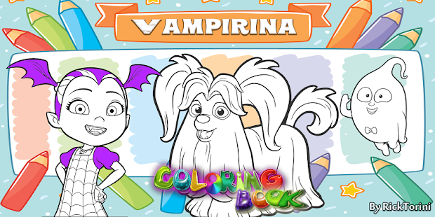 How To Color Vampirina Coloring Book For Adult - Apps on Google Play