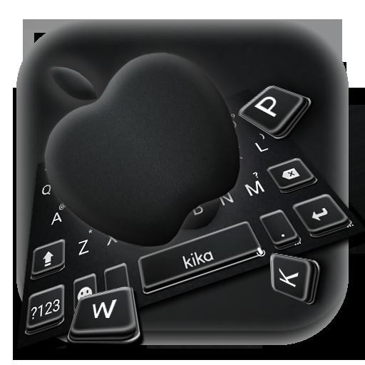 Jet Black Apple Keyboard Theme Icon