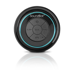 SoundBot® SB517 Extreme Bluetooth Wireless Speaker Hands-Free Portable Speakerphone w/ Military Grade Level 7 Total Waterproof, 3W Speaker Output, 6 hrs Playback time, Built-In Rechargeable Battery, Dust-proof, Built-in Mic, Control Buttons, Detachable Suction Cup for Pool, Boat, Car, Beach, Bathroom, Bedroom, Kitchen, Indoor & Outdoor Use