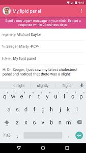 MyChart screenshot 3