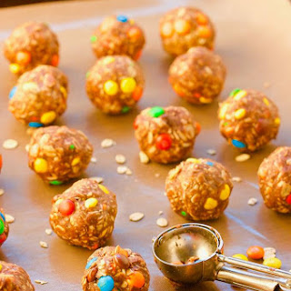 Loaded No Bake Peanut Butter Oatmeal Cookie Balls.
