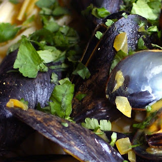 Curried Mussels With Coconut Milk.