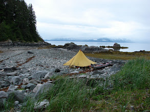 Photo: My campsite at Sand Bay in Stephens Passage.