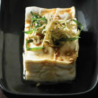 Andrea Nguyen's Chilled Tofu with Crunchy Baby Sardines.