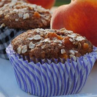 Spiced Peach Oatmeal Muffins.