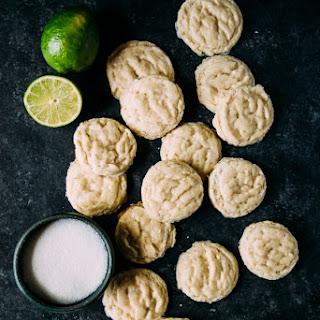 Vegan Lime Sugar Cookies.