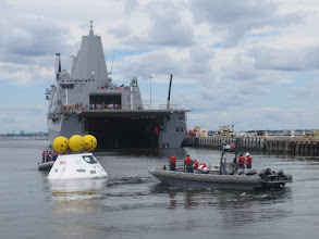 Photo: Orion capsule Stationery Recovery Test ... we haven't done these sorts of water capsule recoveries since Apollo days -- but this craft is nearly twice the size of Apollo crafts.